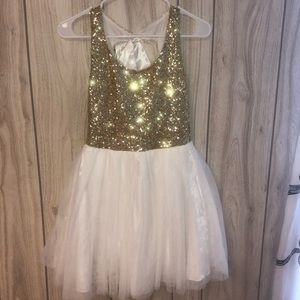 gold sequin homecoming dress